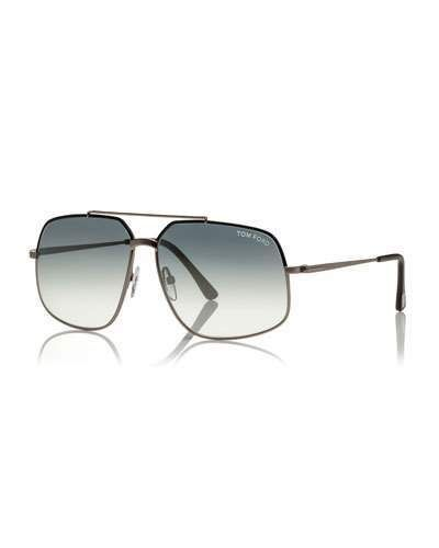 72646bddcc3 TOM FORD Shiny Metal Aviator Sunglasses