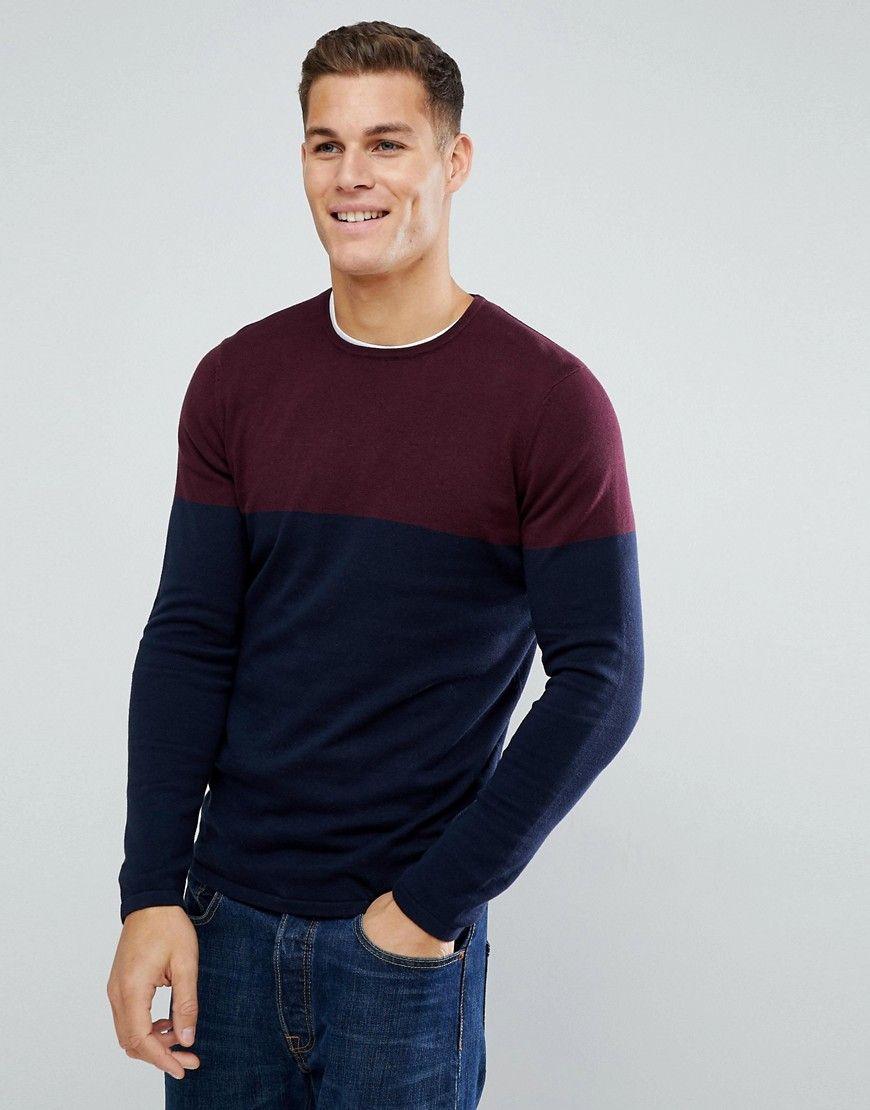Tom Tailor Denim Mens Colorblock Sweatshirt