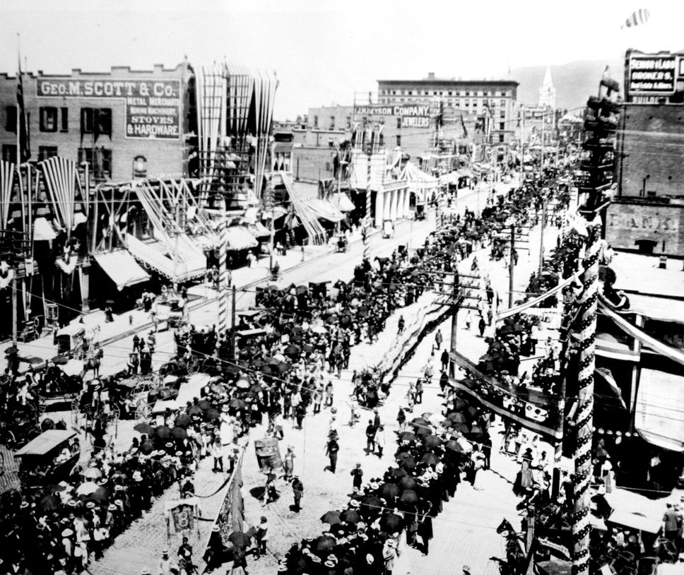 4th West Apartments Salt Lake City: Salt Lake City Fourth Of July Parade In 1896. The