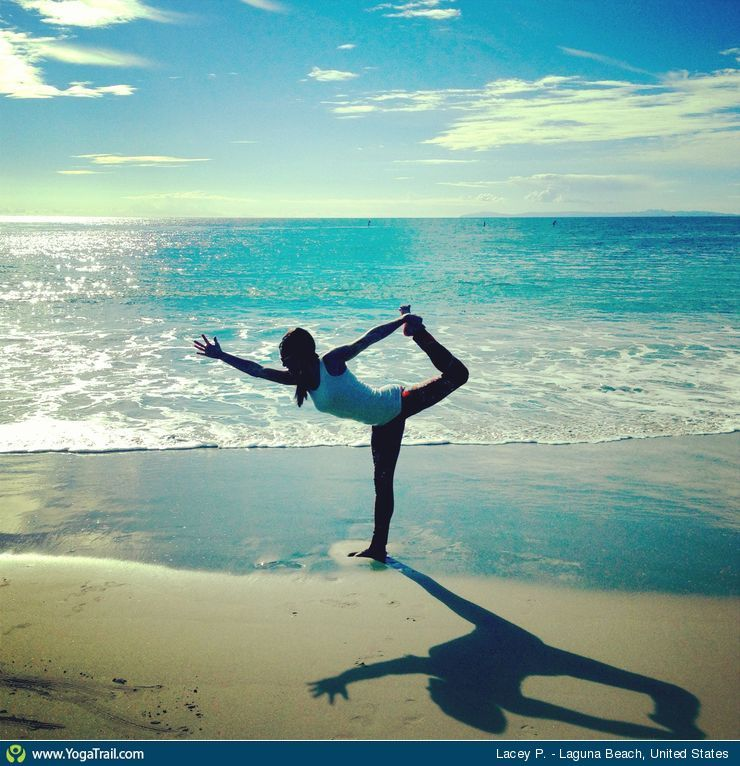 Yoga Poses Around The World Dancer Pose Taken In Laguna Beach United States By Lacey P Yoga Poses Dancer Pose Yoga Photography