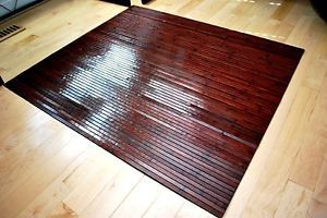 Bamboo Chair Mat Office Floor Hard Wood Protector Cherry Desk Chairmat Ebay