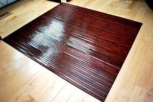 Bamboo Chair Mat Office Floor Mat Hard Wood Floor Protector Cherry