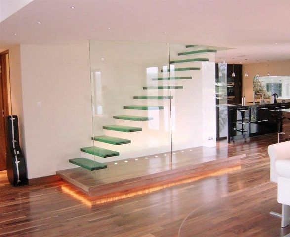 Dise o de escaleras flotantes minimalistas deco de for Interiores minimalistas