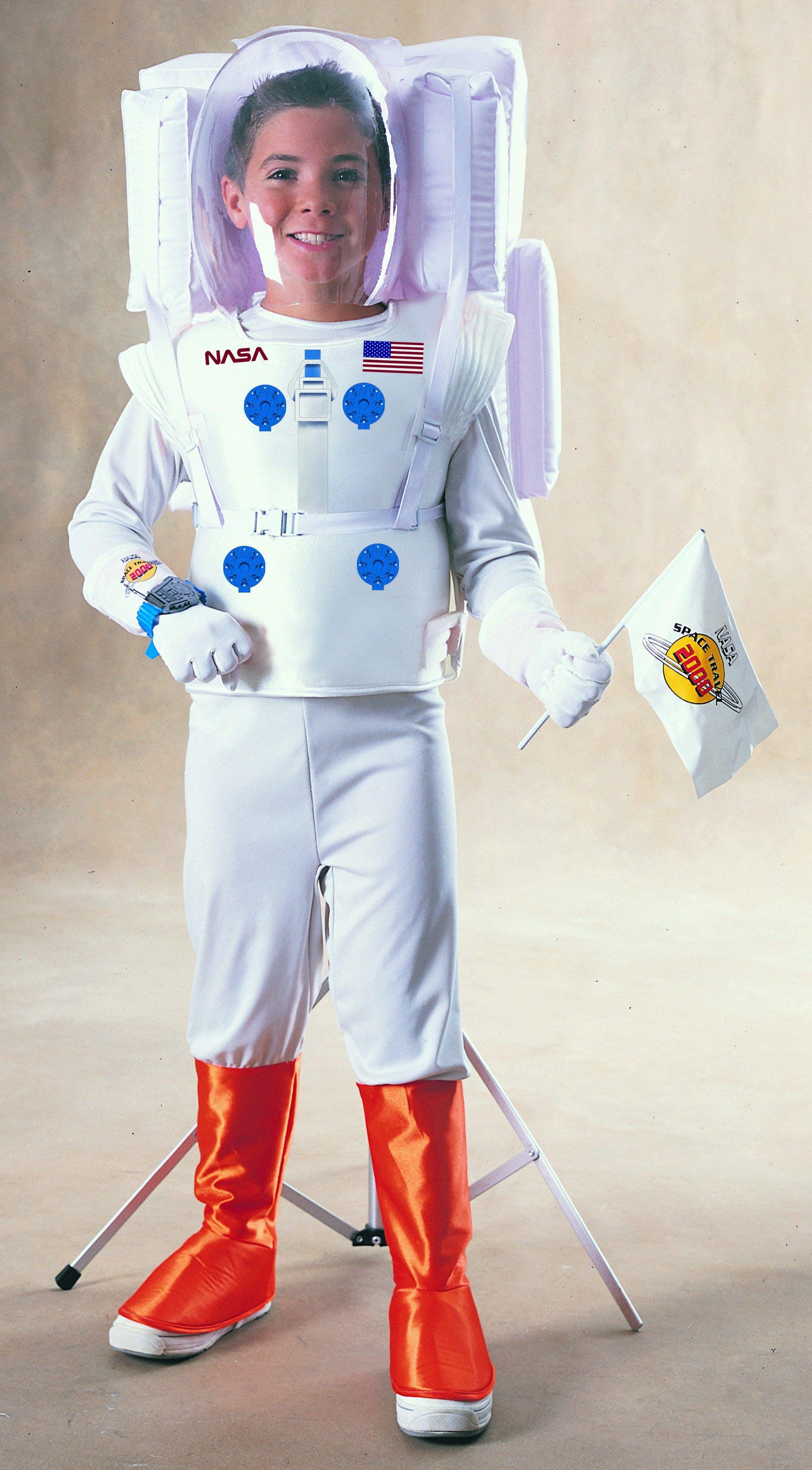 Astronaut Jumpsuit with attached boot tops, helmet, vest ...