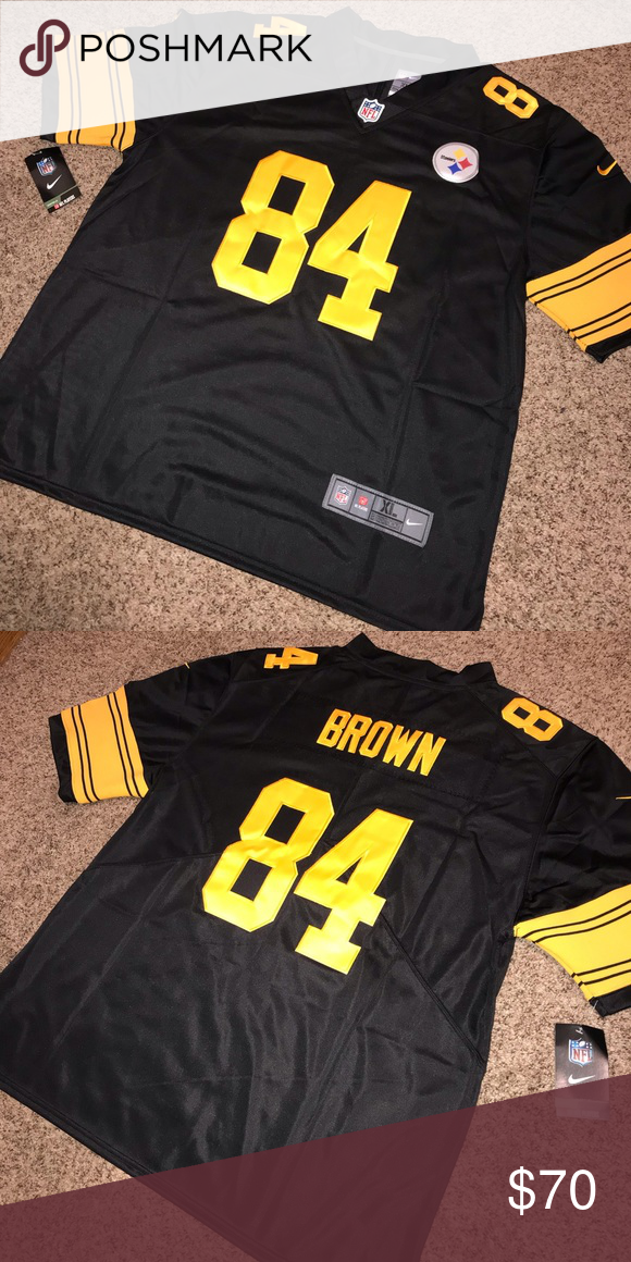 sports shoes 02b25 78a83 Pittsburgh Steelers #84 Brown Stitched Jersey Brand new with ...