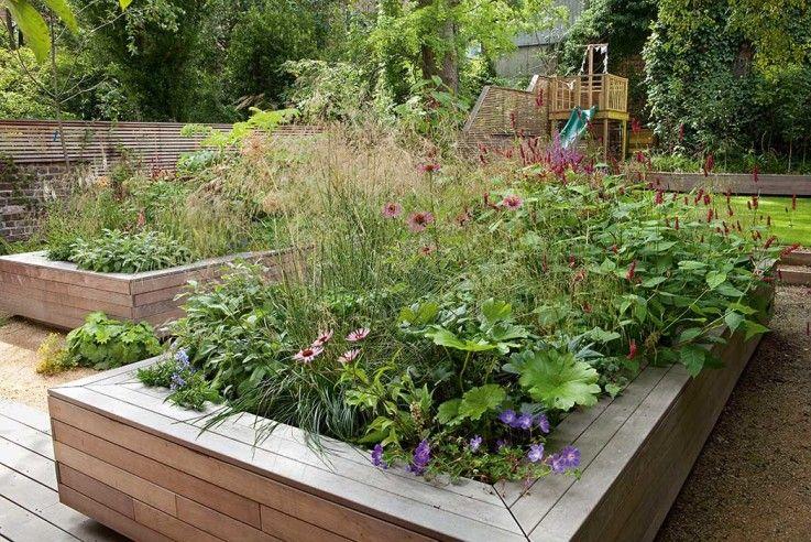Gestalten Mit Hochbeeten Gartengestaltung Hochbeet Hinterhofideen