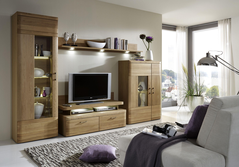 Wohnzimmerwand Massiv ~ Wohnwand eiche bianco stab massiv geölt woody 97 00113 modern