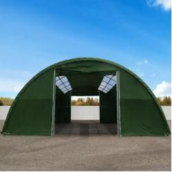 Photo of Round arch hall 9.15x20m PVC 720 g / m2 dark green waterproof Zelthalle, Industrial tent, Agrarzelt Tool