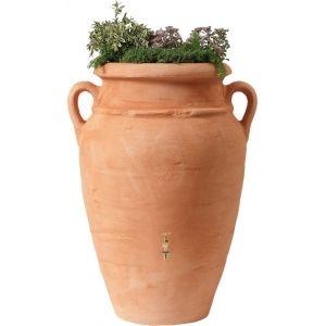 Garantia regenton amphora terra 250 liter met plantenbak