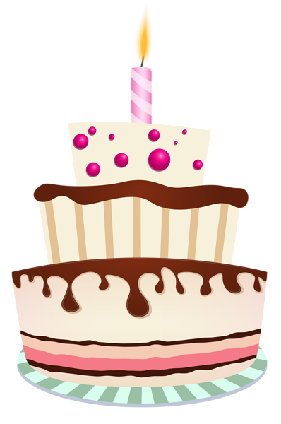 Cake Design Png : Birthday Cake with One Candle PNG Clipart Image clipart ...