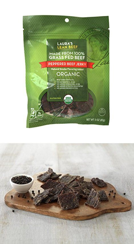 Laura S Lean Beef Organic Grass Fed Jerky Peppered 3 Oz Bag Stuffed Peppers Lean Beef Organic Grass