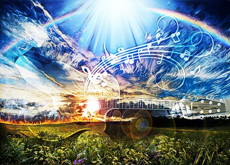 Music of Heaven series – Dyed4you Art | Prophetic  art, Digital art prints, Christian art