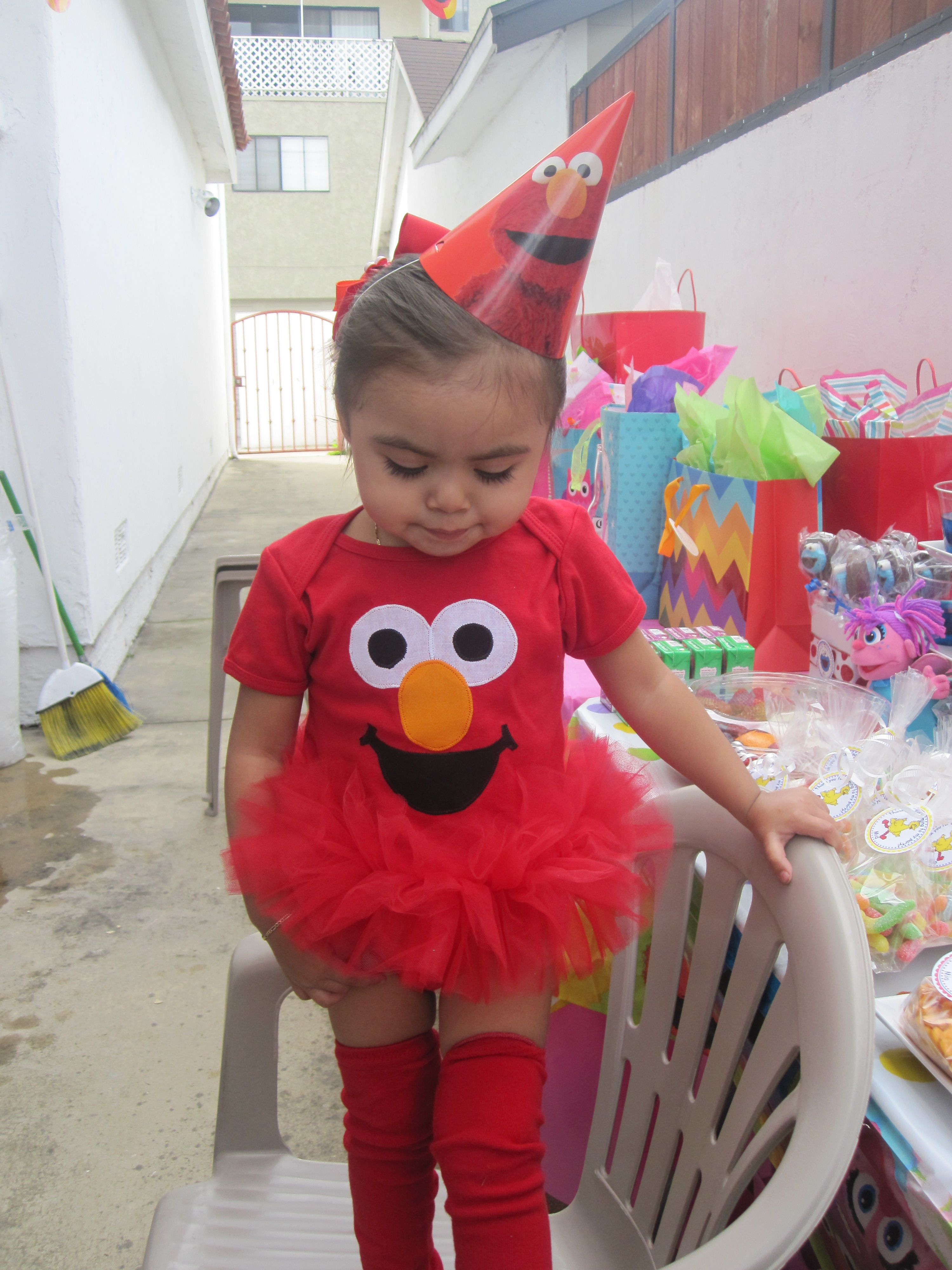 Elmo Outfit | Elmo first birthday, Sesame street birthday ...