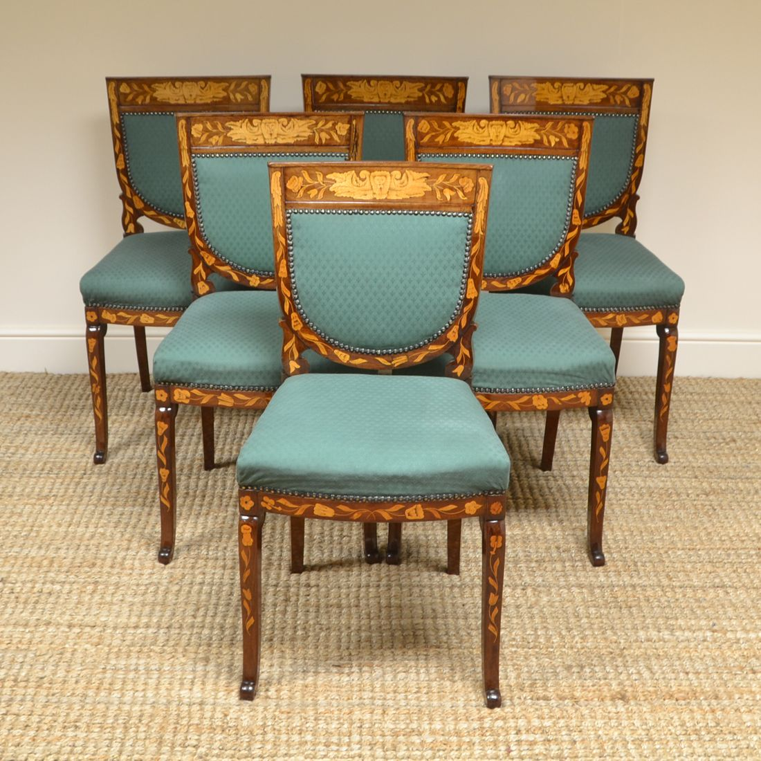 26++ Set of six mahogany dining chairs Top