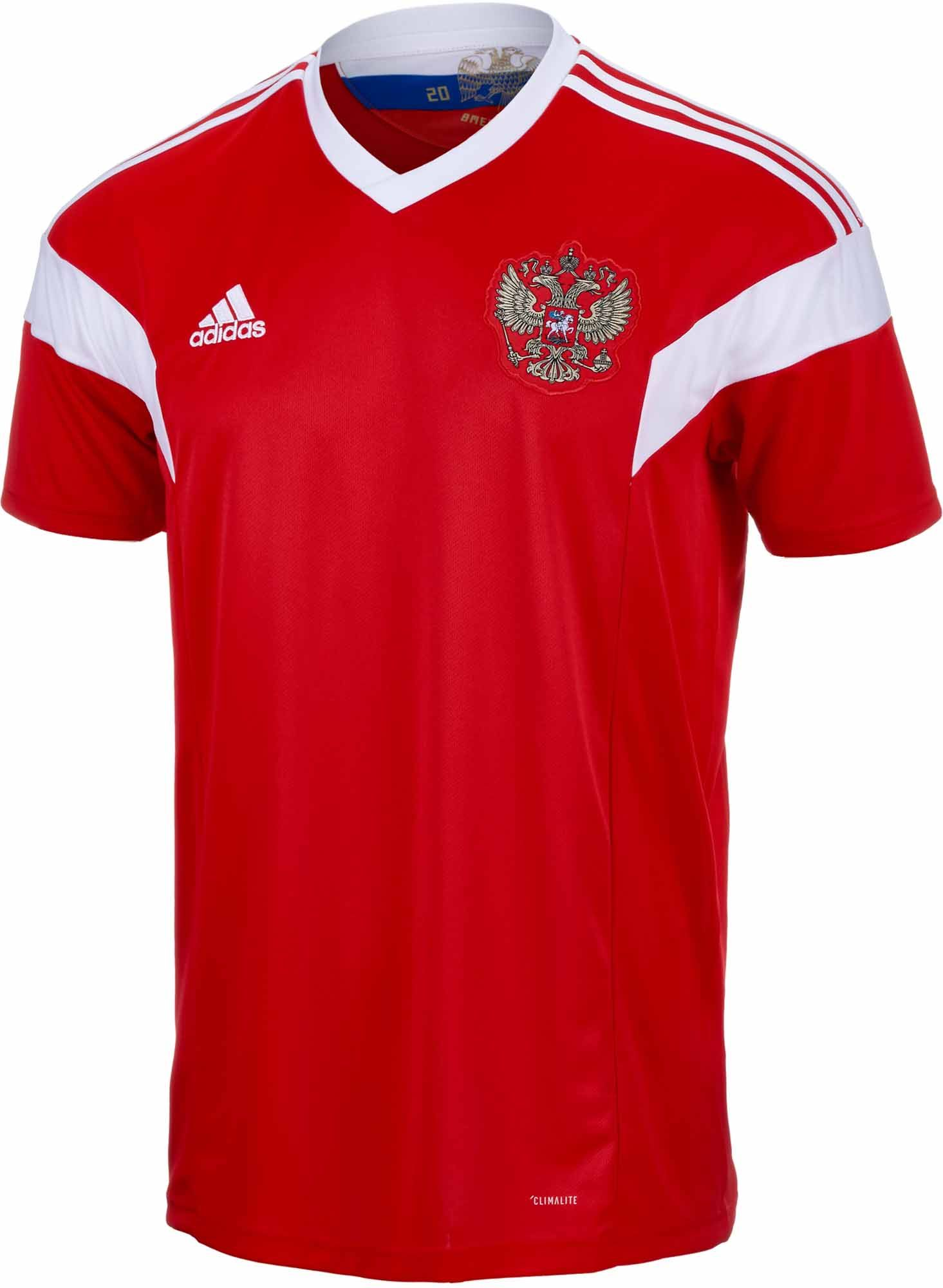 Adidas Russia Home Jersey 2018 19 Soccerpro Com Jersey Soccer Jersey Soccer Tshirts