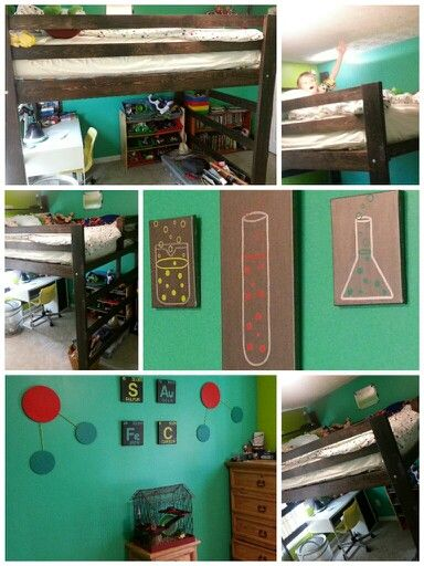 Queen Loft Bed And Science Theme The Element Amp Test Tube