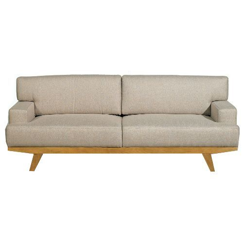 Clearance Ink Ivy Martin Burlap Upholstered Mid Century