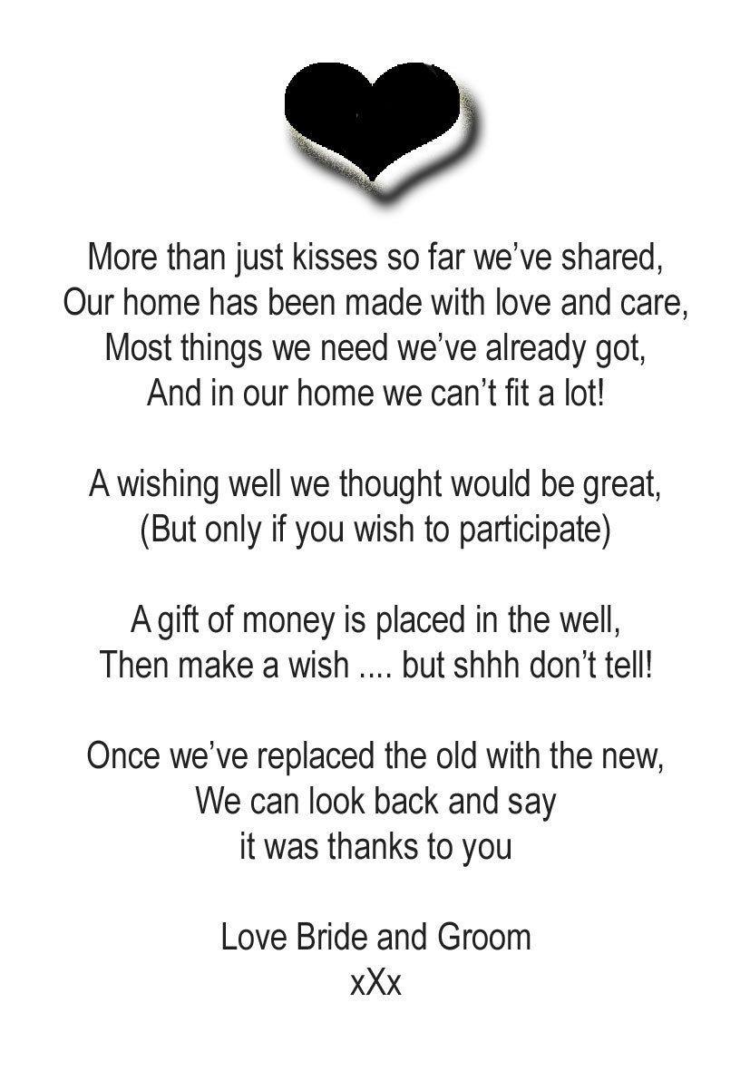 Charlotte black white design money wedding poem cards abbyedesigns charlotte black white design money wedding poem cards abbyedesigns ebay junglespirit Choice Image