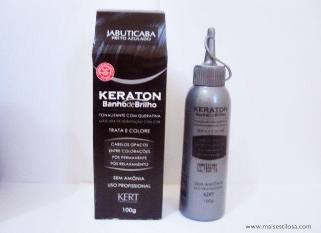Mais Estilosa: Banho de Petróleo com Keraton Jabuticaba [Preto Azulado]
