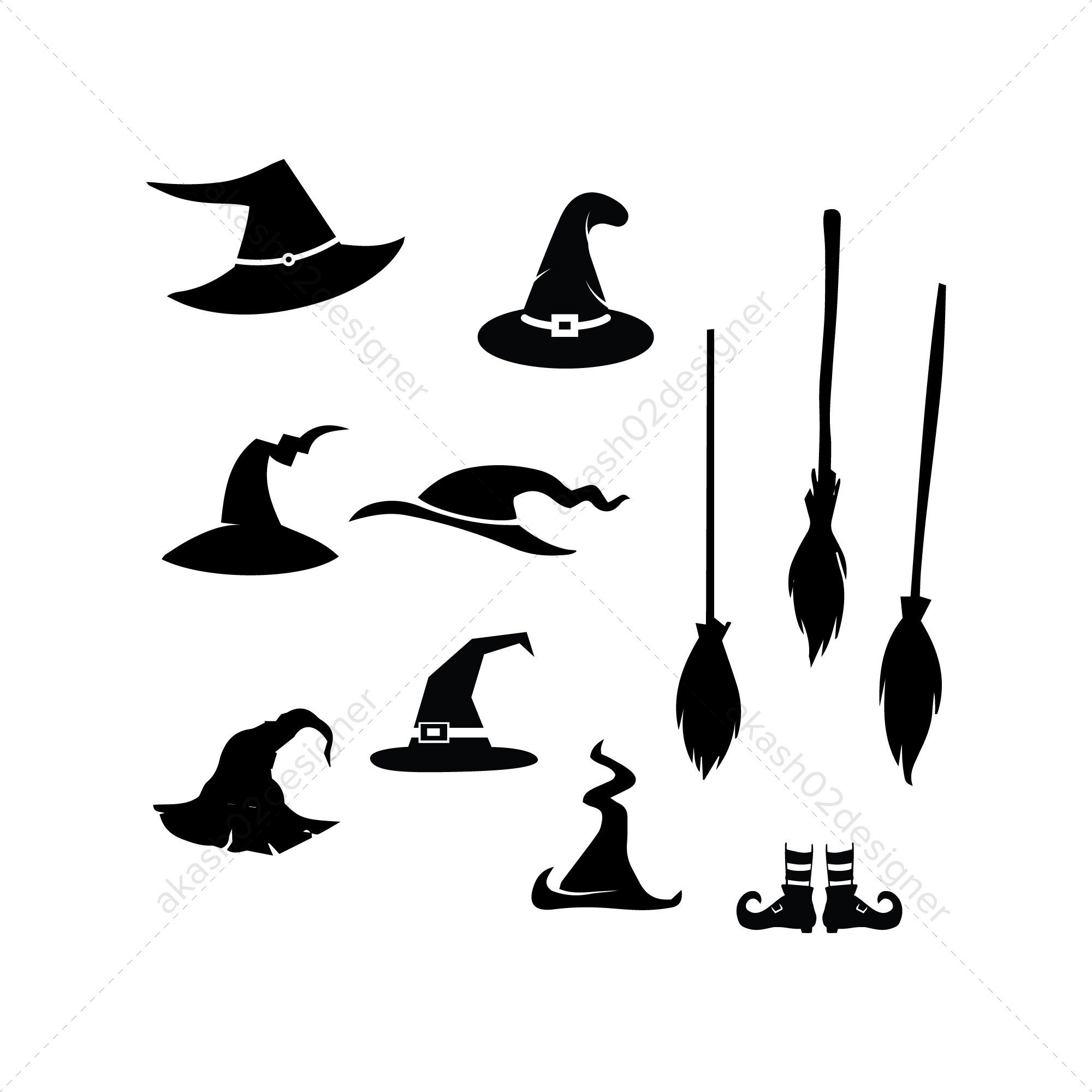 Witch Hat Svg Pack Bundle Png Ai Eps Vector Digital File Etsy Witch Hat Halloween Witch Eps Vector