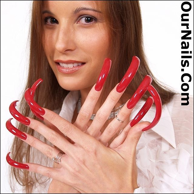 Kitty from OurNails.Com modeling her outstanding nails! . If you ...