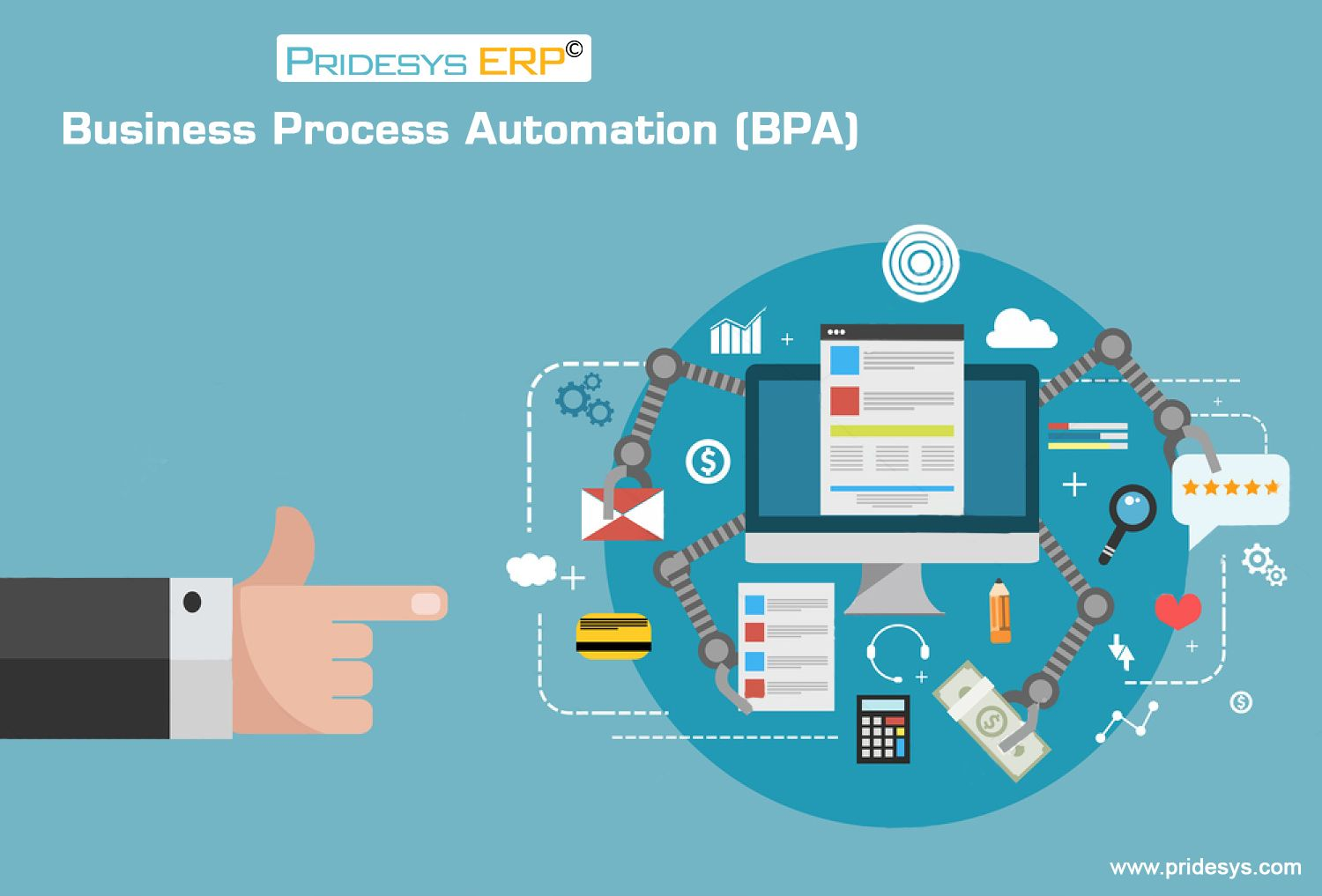 Business Process Automation Is A Strategy For Business To Manage Information Data And Processes To Reduce Cost Resources Business Process Erp System Business