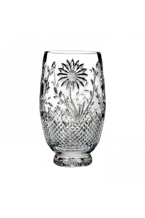 Flora Fauna Sunflower 10in Vase House Of Waterford Crystal Us Waterford Crystal Waterford Crystal Glassware