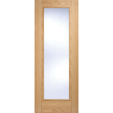 Vancouver Oak 1l Fire Door With Clear Safety Glass Is 12 Hour Fire