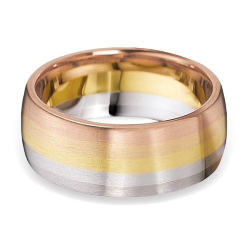 Gorgeous Rainbow Wedding Ring 8mm from wwwwooltonandhewittcouk
