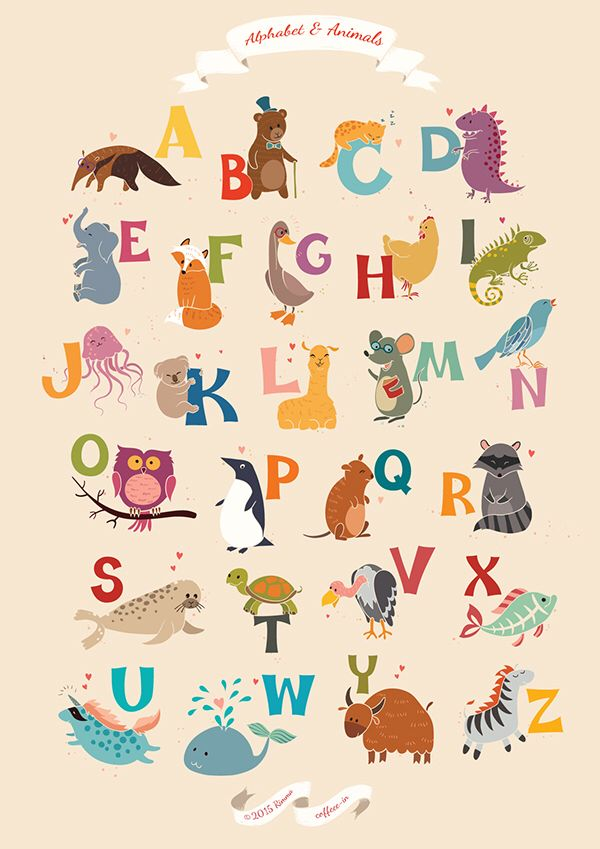 Alphabet Alphabet, Illustration, Animals