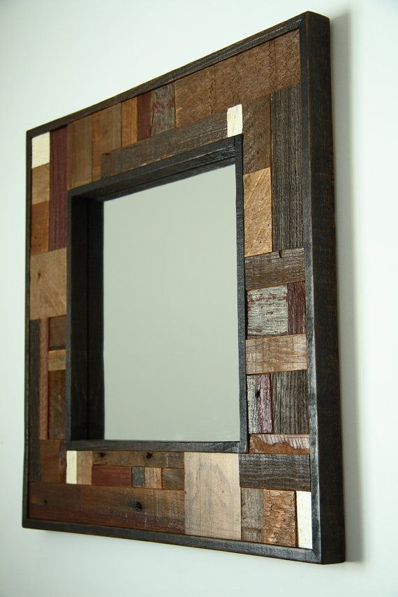 Reclaimed Wood Mirror 20x20x11/4 by Carpentercraig on Etsy, $149.00 ...