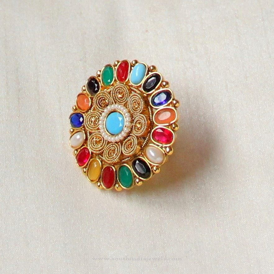 Imitation Navarathna Ring