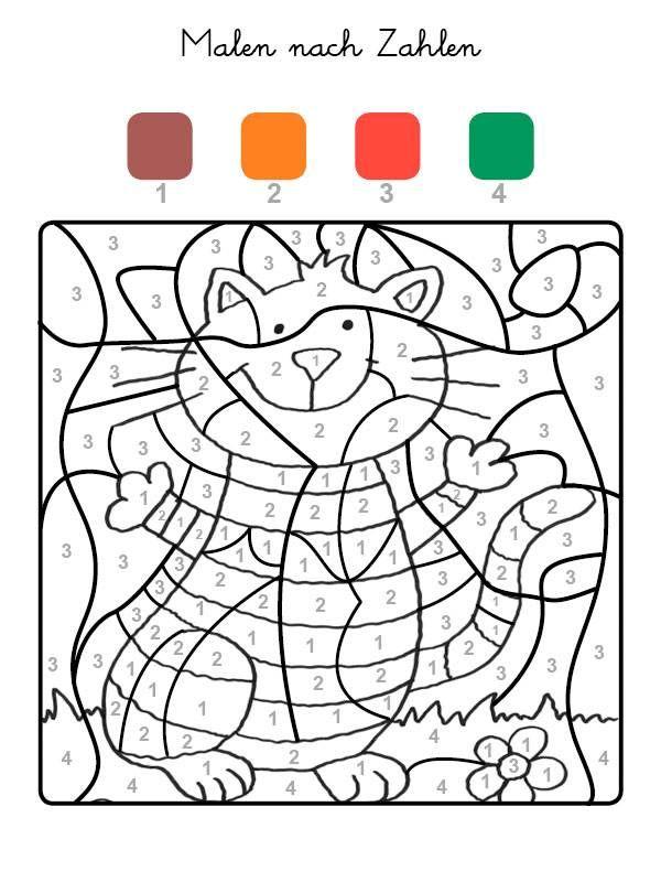 Die Felder Mit Der Zahl 1 Werden Braun Felder Mit Der Zahl 2 Orange Die Mit Der Zahl 3 Malen Nach Zahlen Malen Nach Zahlen Kinder Ausmalbilder Zum Ausdrucken