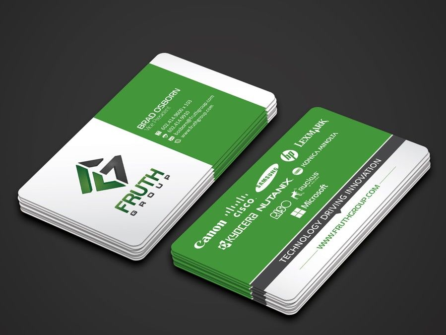 New High Tech Business Cards for High Tech Company by Dhir™ | LOGO ...