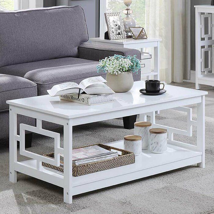 Carlino Coffee Table With Storage Coffee Table White Coffee Table Living Room 3 Piece Coffee Table Set