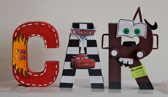 disney letters 8 cars theme by adhucreations on etsy 1300