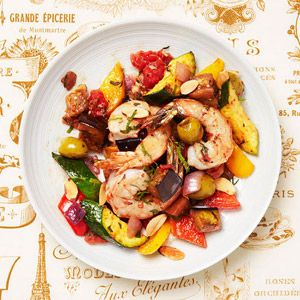 GlutenFree Shrimp Ratatouille on the light side! Looks delightful - bet it would be great served cold or hot!
