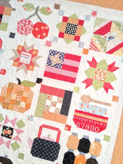 My finished Farm Girl Vintage Sampler Quilt | A Quilt - Bee in My ... : the quilt farm - Adamdwight.com