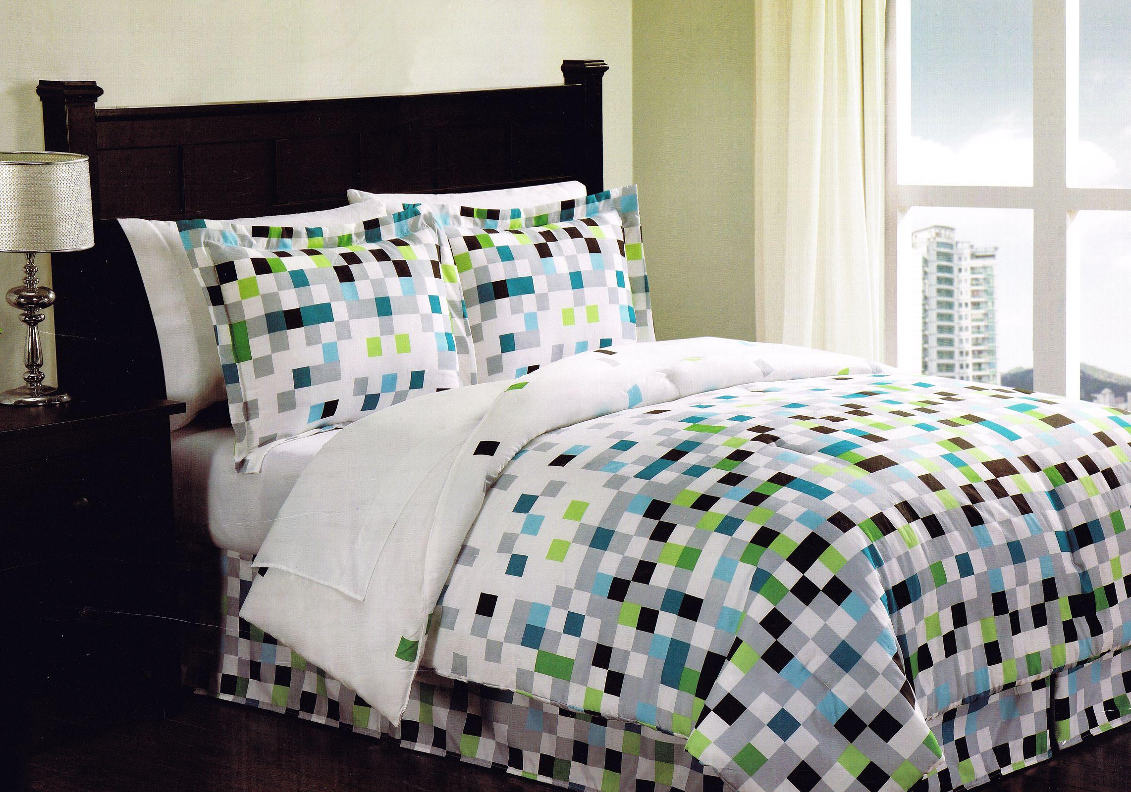Minecraft Pixels Comforter Set Teen Bedding Bed in a Bag ...