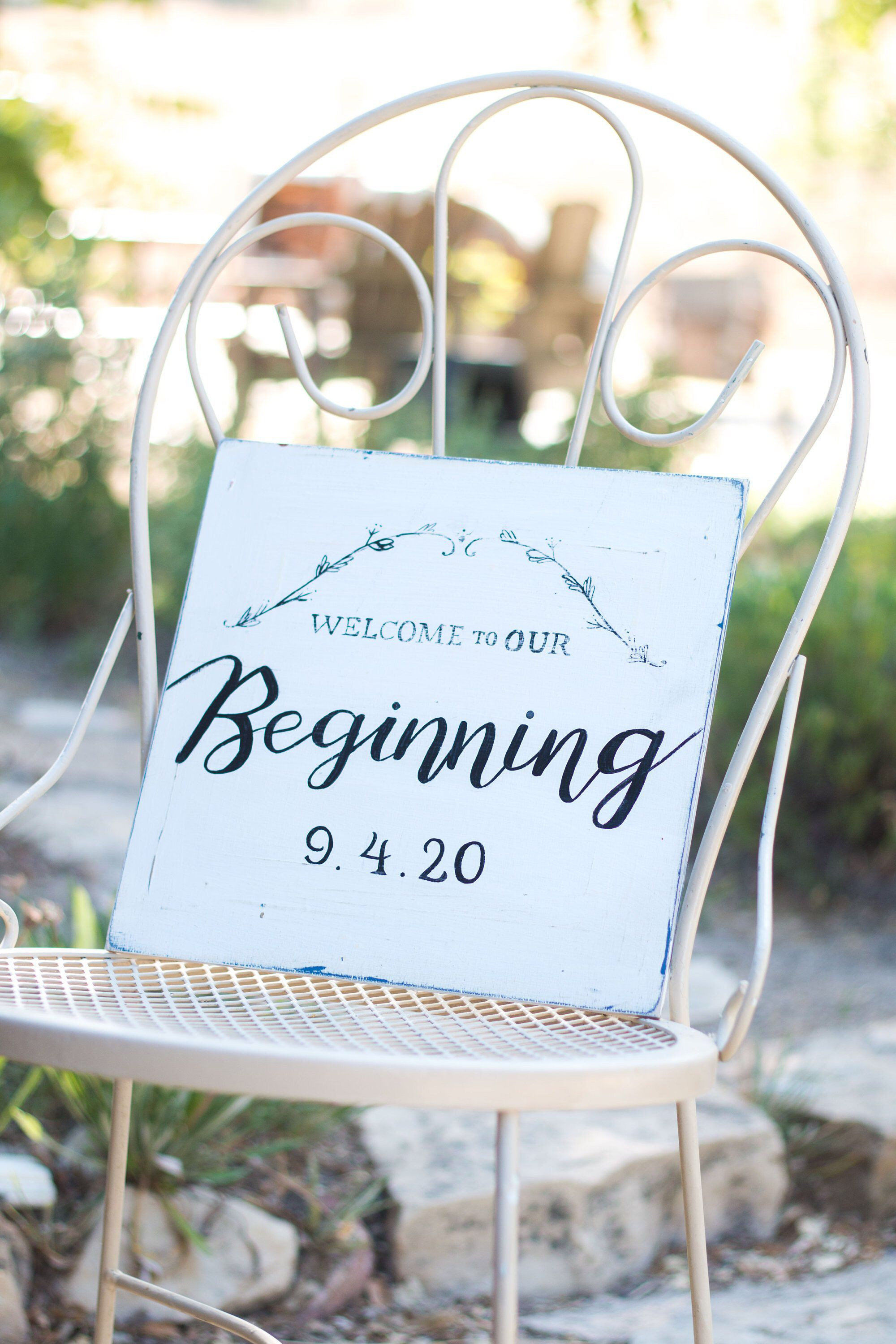 Latest wedding decoration images  Welcome to Our Beginning  Custom Wedding Sign  Custom sign