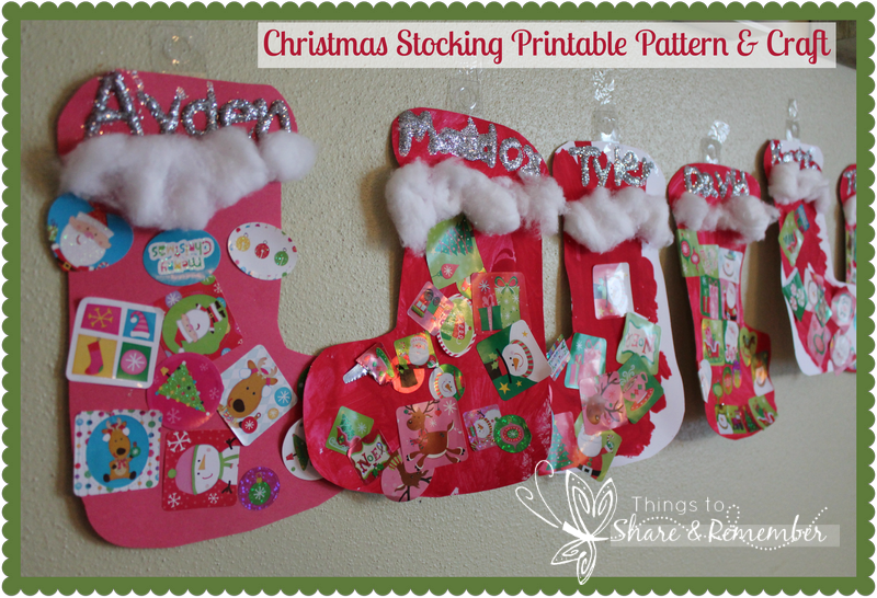 Attractive Christmas Stocking Craft Ideas Part - 4: Christmas Stocking Craft U0026 Printable Pattern
