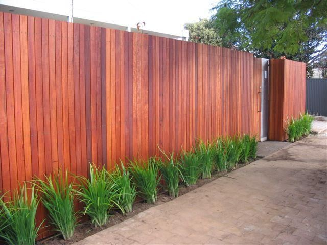 Outdoor inspiration fences merbau fencing taylor for Front garden fence designs