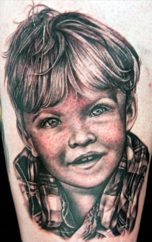 Baby portrait tattoo ideas - Tattoo