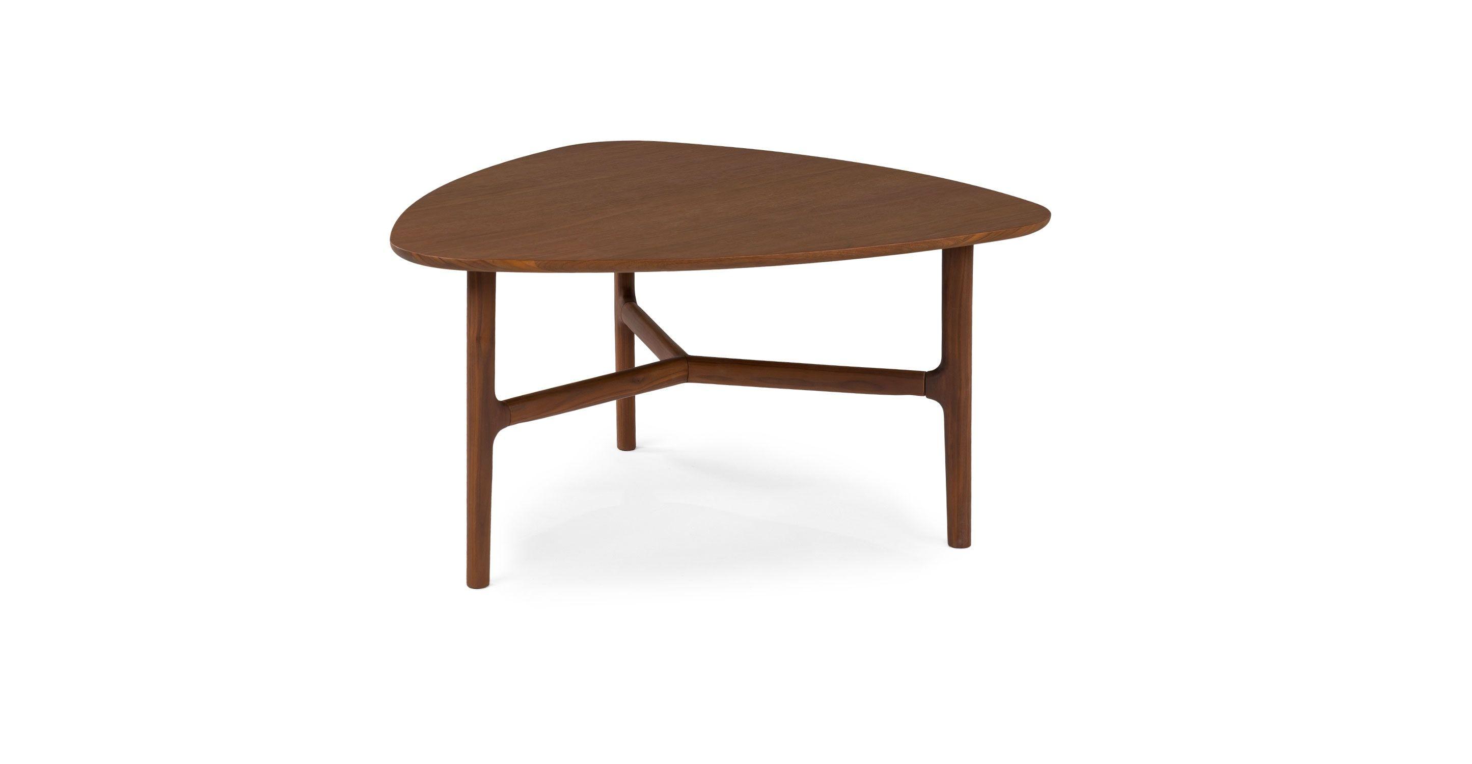 Brezza Matte Walnut Triangular Coffee Table Mid Century Modern Coffee Table Coffee Table Modern Coffee Tables [ 1500 x 2890 Pixel ]