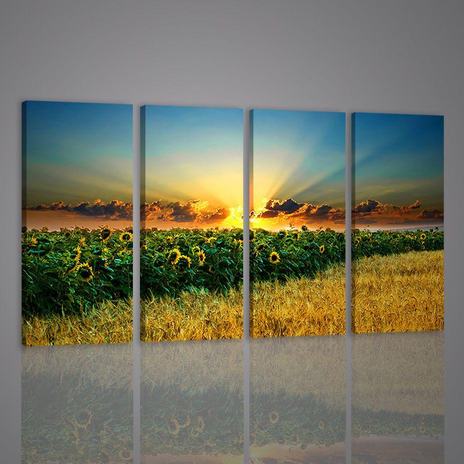 Quadri moderni beatiful sunflower ii quadro moderno xxl paesaggio ...