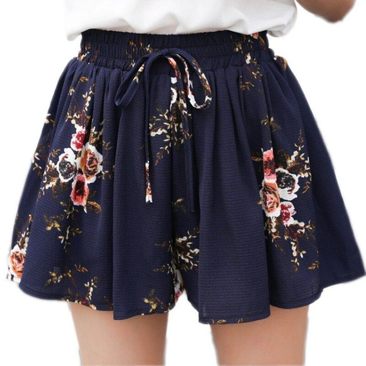 loose casual plus size chiffon short shorts