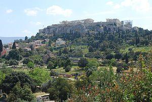 Acropolis of Athens view from Agora