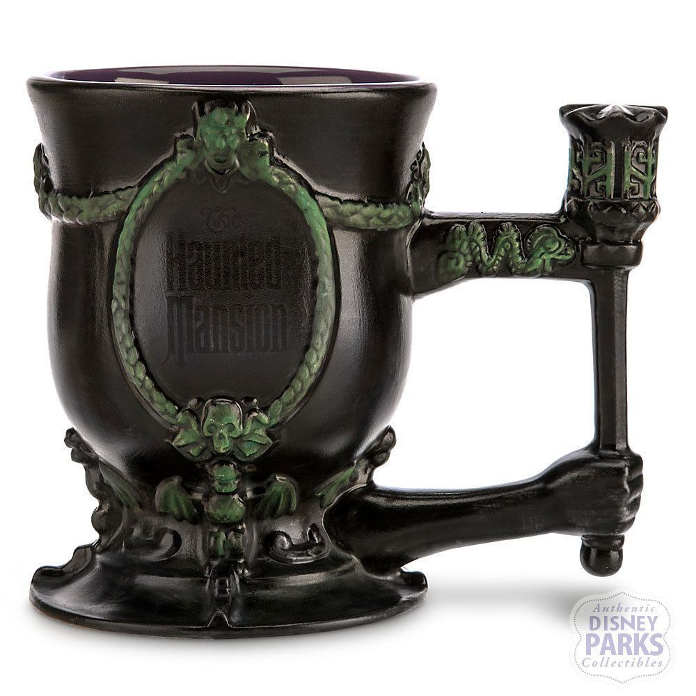 Disney Parks Haunted Mansion Graveyard Grave Digger Mug with Spoon | eBay