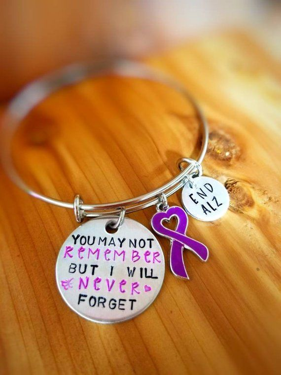 ea4a7c492b3 Alzheimer Awareness Bracelet - You May Not Remember But I will Never Forget  - Dementia Awareness