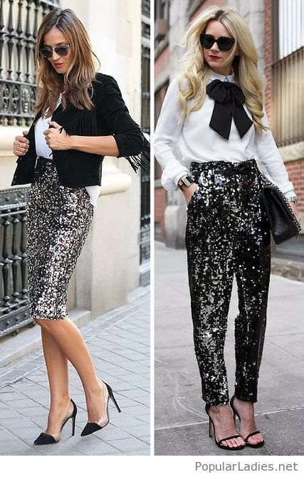 glitter-skirt-and-pants-styles